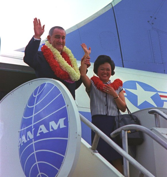 Patsy Mink and LBJ