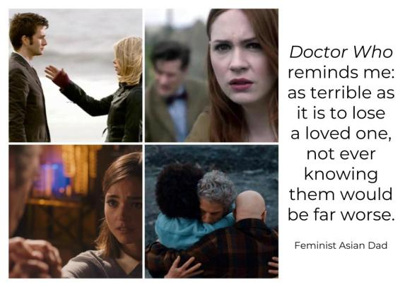 Dr Who Goodbyes with Quote